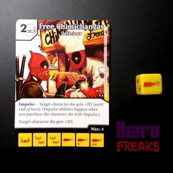 Dice Masters Marvel Deadpool - 017 Free Chimichangas (C)