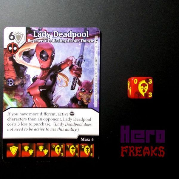 Dice Masters Marvel Deadpool - 021 Lady Deadpool (C)