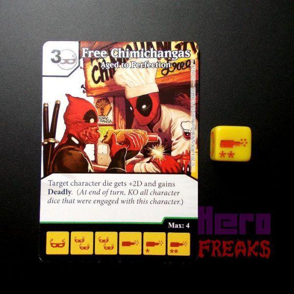 Dice Masters Marvel Deadpool - 057 Free Chimichangas (U)