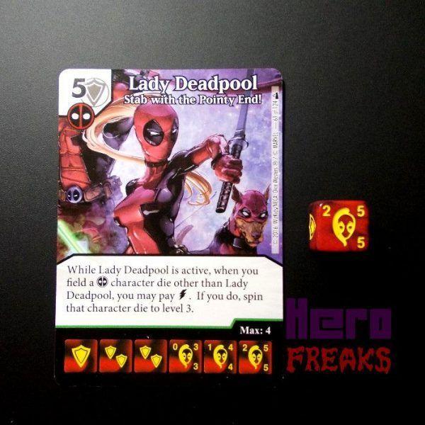 Dice Masters Marvel Deadpool - 061 Lady Deadpool (U)