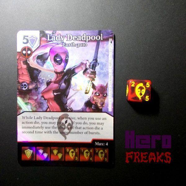 Dice Masters Marvel Deadpool - 118 Lady Deadpool (SR)