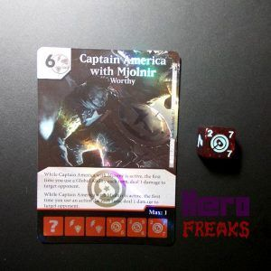 Dice Masters Marvel Deadpool - 121 Captain America with Mjolnir (SR)