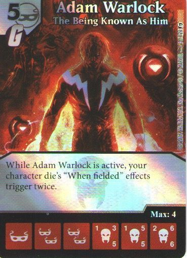 Dice Masters Marvel Guardians of the Galaxy 001 Adam Warlock (C) FOIL