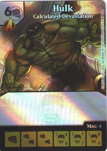 Dice Masters Marvel Guardians of the Galaxy 016 Hulk (C) FOIL