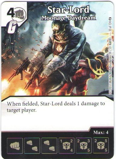 Dice Masters Marvel Guardians of the Galaxy 033 Star-Lord (C)