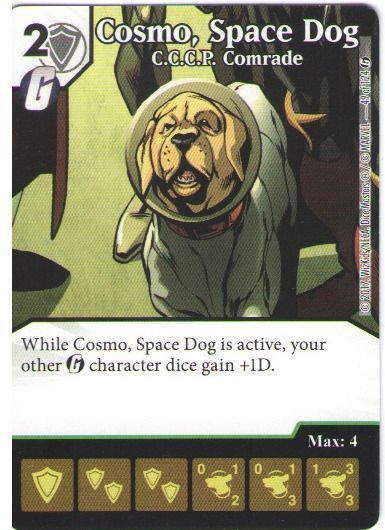 Dice Masters Marvel Guardians of the Galaxy 049 Cosmo Space Dog (U)