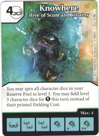 Dice Masters Marvel Guardians of the Galaxy 058 Knowhere (U)
