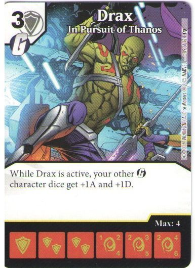 Dice Masters Marvel Guardians of the Galaxy 089 Drax (R)