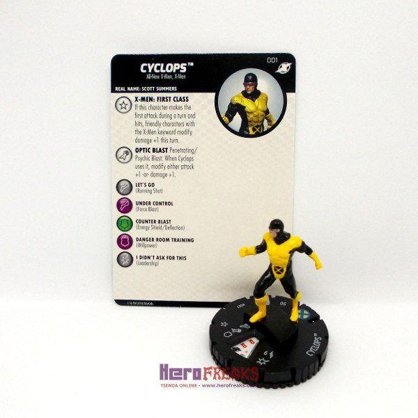 Heroclix Marvel X-Men Xavier's School – 001 Cyclops
