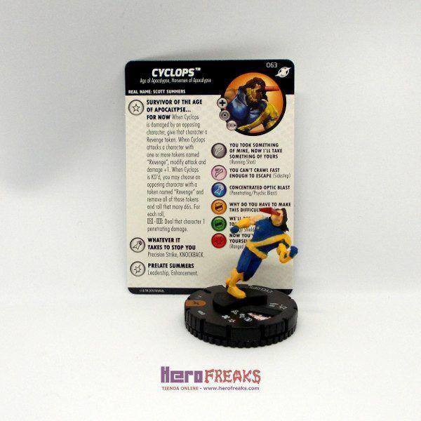 Heroclix Marvel X-Men Xavier's School – 063 Cyclops