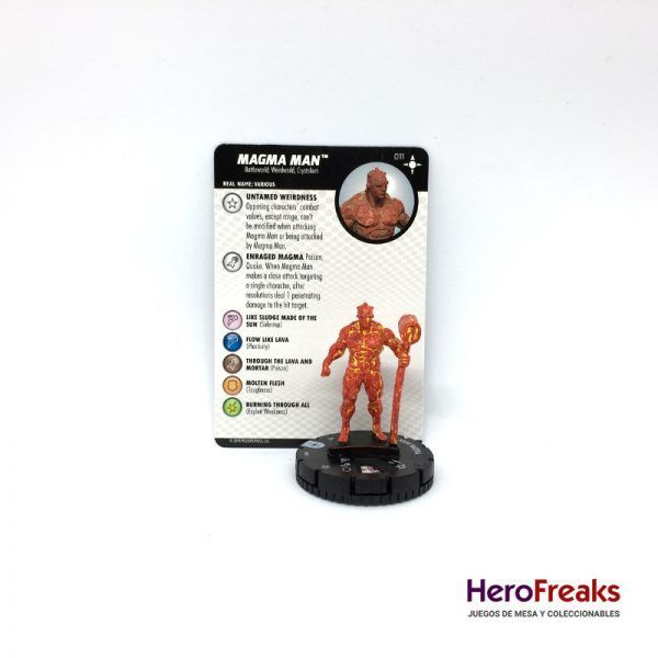 Heroclix Secret Wars Battleworld – 011 Magma Man