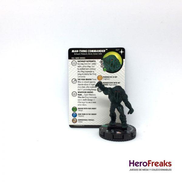 Heroclix Secret Wars Battleworld – 027 Man-Thing Commander