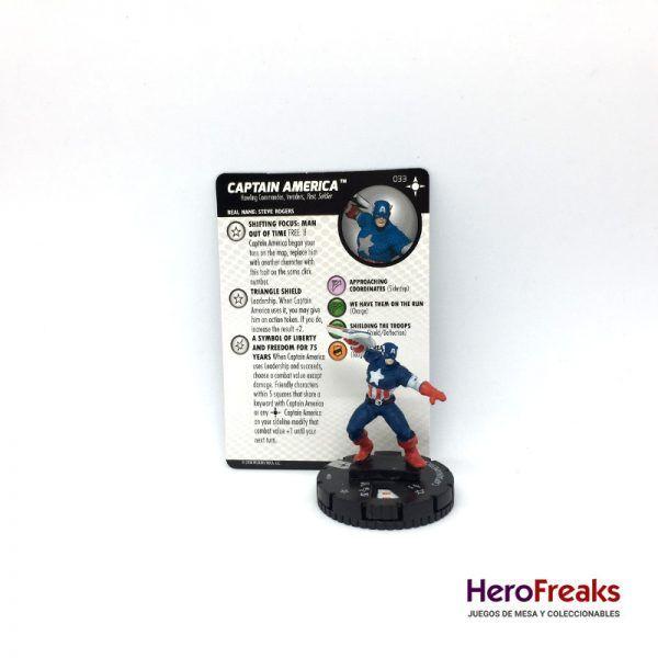 Heroclix Secret Wars Battleworld – 033 Captain America
