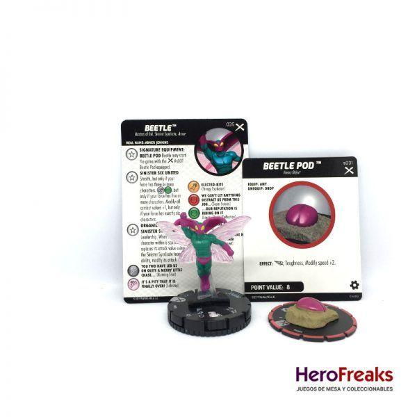 Heroclix: Earth X – 035 Beetle + S001 Beetle Pod