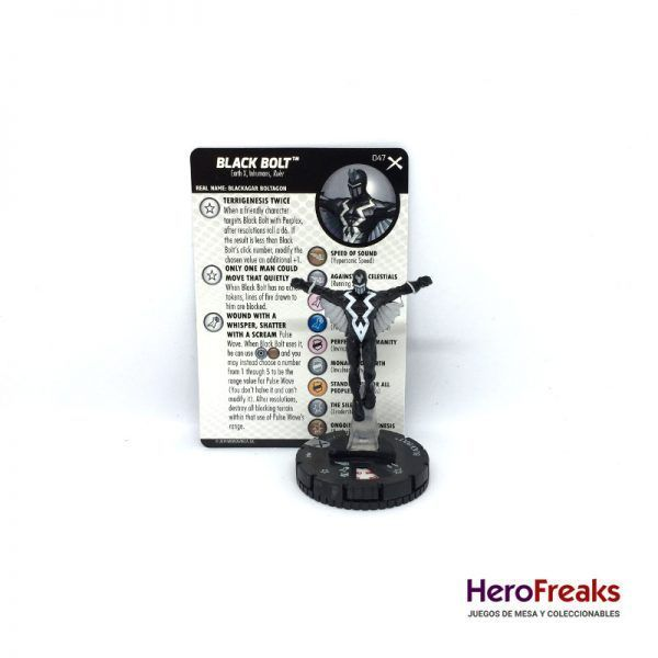 Heroclix: Earth X – 047 Black Bolt