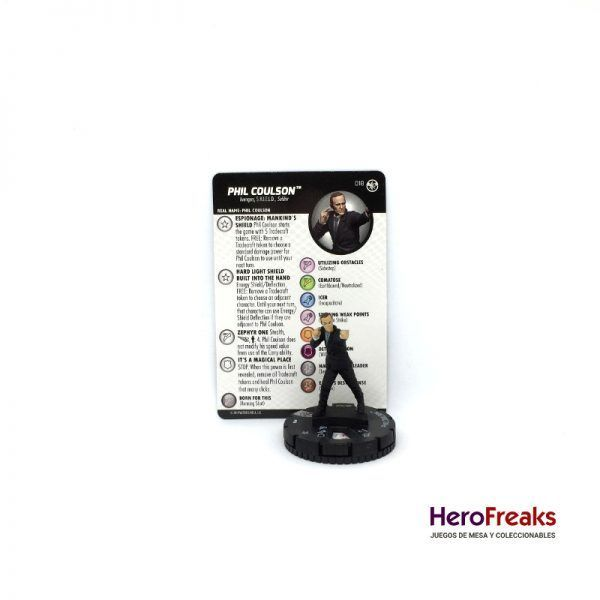 Heroclix Captain Marvel – 018 Phil Coulson