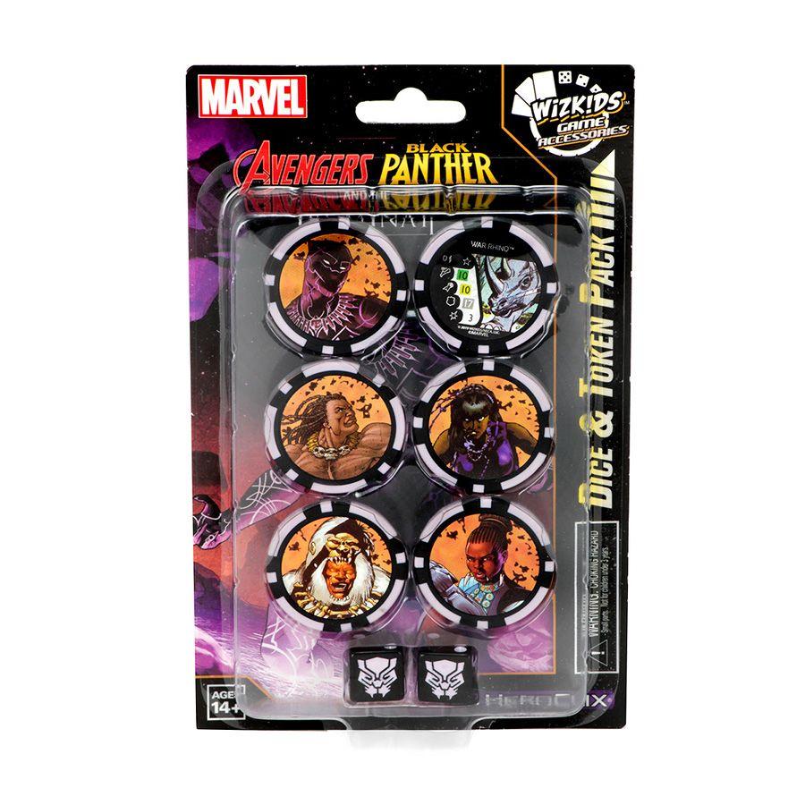 Heroclix Avengers Black Panther and the Iluminati - Dice & Token