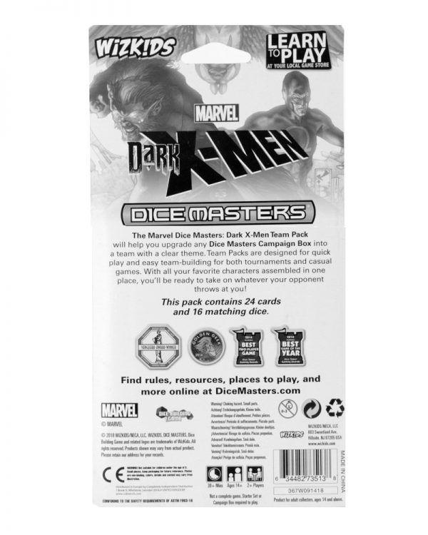 Dice Masters Marvel Dark X-Men Team Pack