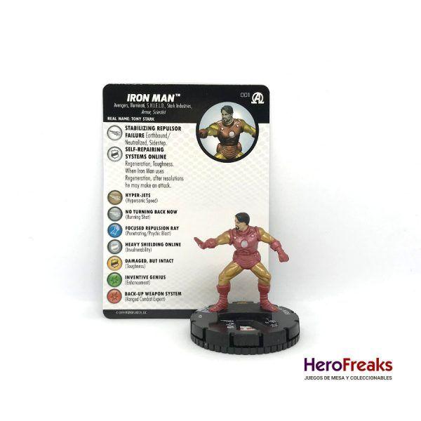 Heroclix Avengers Black Panther Illuminati – 001 Iron Man