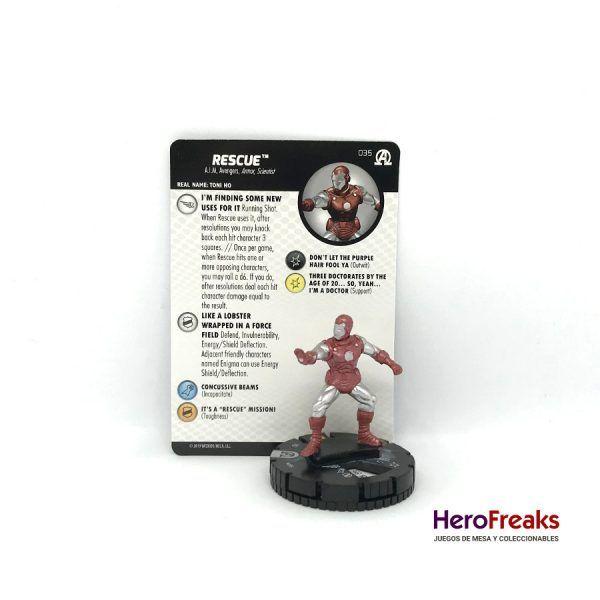 Heroclix Avengers Black Panther Illuminati – 035 Rescue