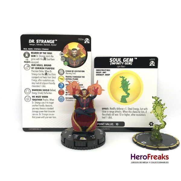 Heroclix Avengers Black Panther Illuminati – 053a Dr. Strange + S005 Soul Gem