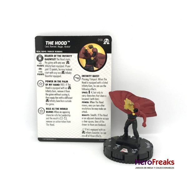 Heroclix Avengers Black Panther Illuminati – 058 The Hood