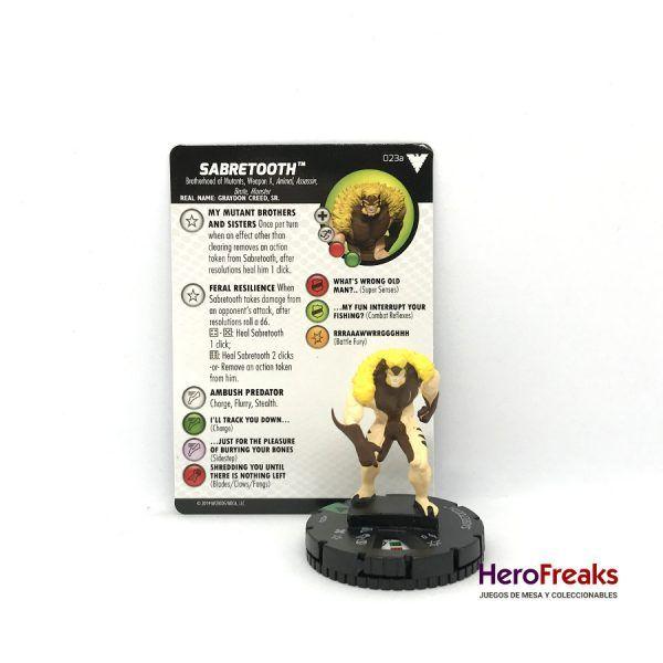 Heroclix X-Men Dark Phoenix Saga – 023a Sabretooth
