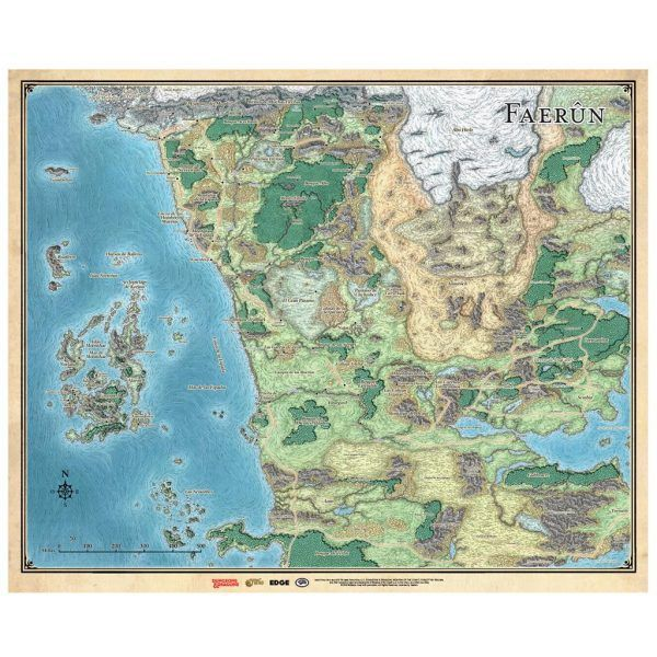 Dungeons & Dragons Mapa de Faerun