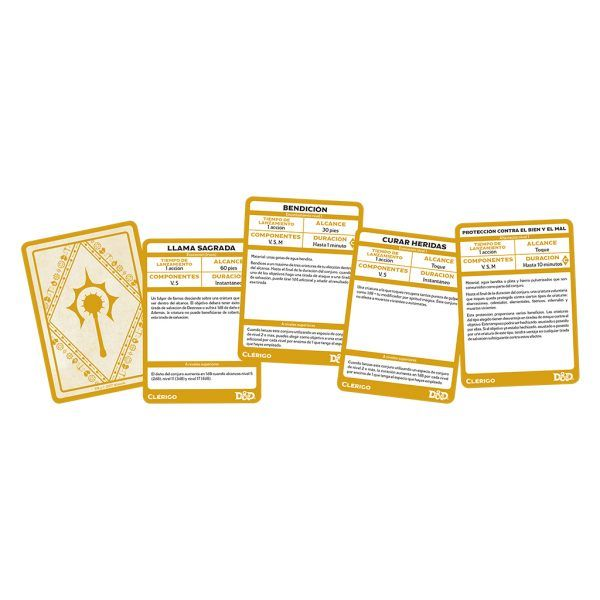 D&D Cartas de Conjuros - Clerigo