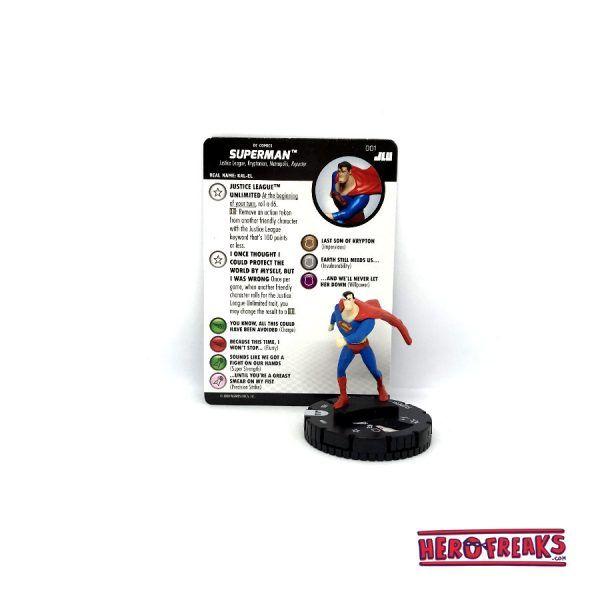 Heroclix JLU – 001 Superman