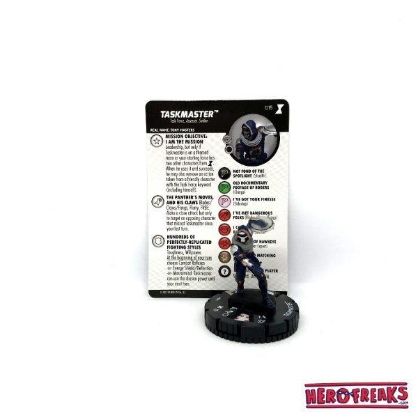 Heroclix Black Widow Movie – 015 Taskmaster