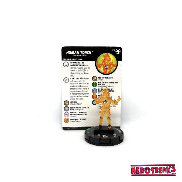 Heroclix Fantastic Four – 019 Human Torch