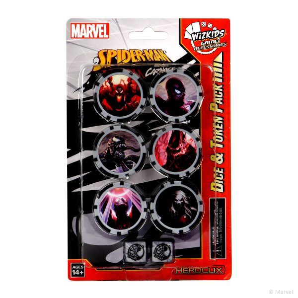 Heroclix Spider-Man and Venom Absolute Carnage - Dice&Token