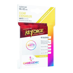 Fundas de Cartas Gamegenic - Keyforge Exoshields Matte 66 x 92 (40)