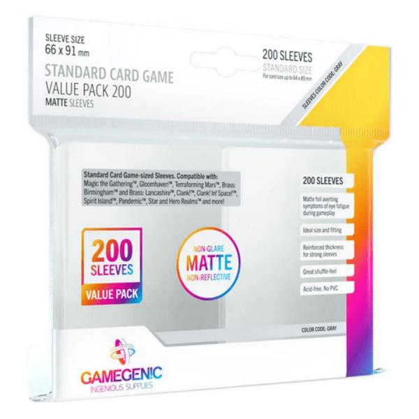 Fundas de Cartas: Gamegenic - Matte Standard 66 x 91 Value Pack (200)