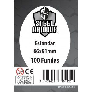 Fundas de Cartas: Steel Armour- Standard 66 x 91 (100)