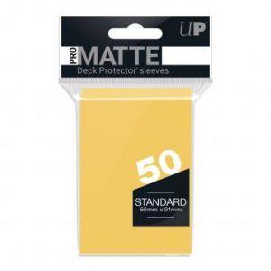 Fundas de Cartas: Ultra Pro Pro Matte 66 x 91 mm - Amarillo